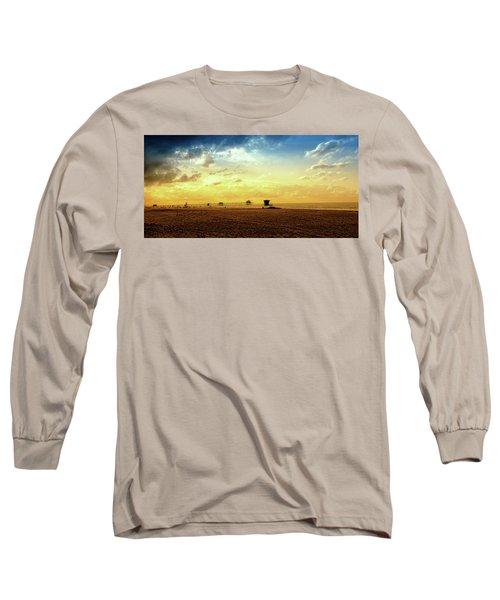 Beach Pier Long Sleeve T-Shirt by Joseph Hollingsworth