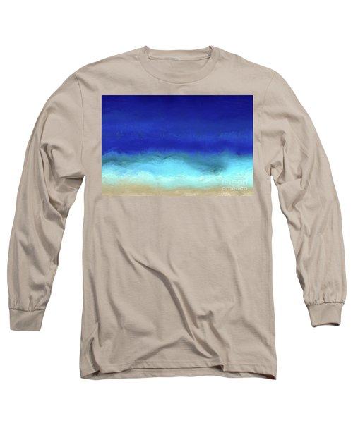 Beach Scene 8. Aqua Beach Blues Long Sleeve T-Shirt by Mark Lawrence
