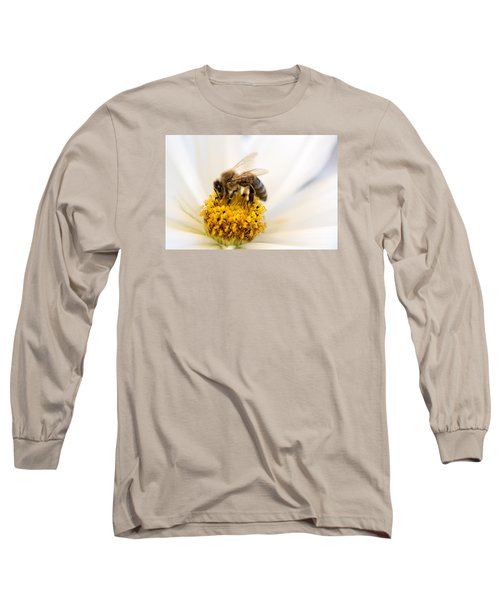Long Sleeve T-Shirt featuring the photograph Bee Time by Sabine Edrissi