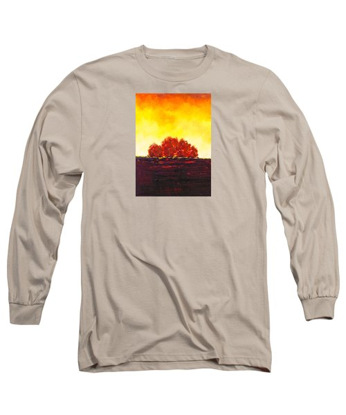 Big Red Long Sleeve T-Shirt by William Renzulli
