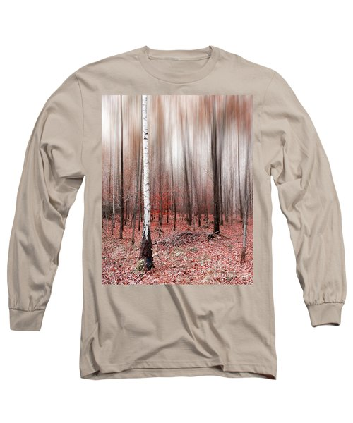 Long Sleeve T-Shirt featuring the photograph Birchforest In Fall by Hannes Cmarits