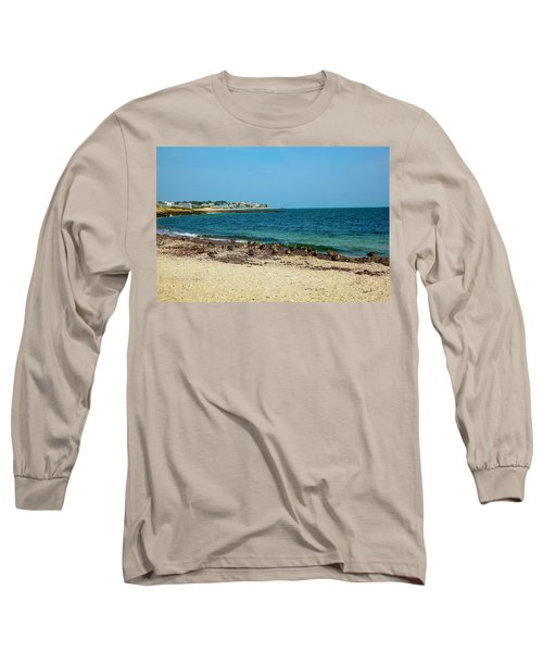Long Sleeve T-Shirt featuring the photograph Birds On The Beach by Madeline Ellis