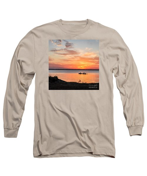 Long Sleeve T-Shirt featuring the photograph Boating Sunset by Cheryl McClure