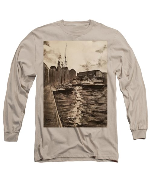 Boston Harbor Long Sleeve T-Shirt by Rose Wang