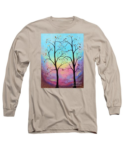 Long Sleeve T-Shirt featuring the painting Branching Out by Stacey Zimmerman