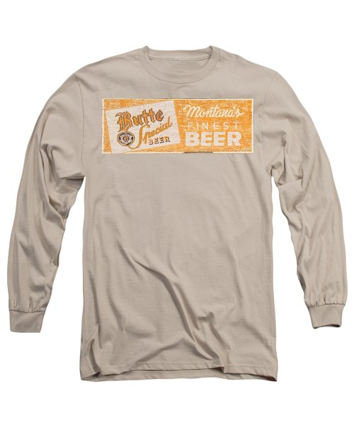 Butte Special Beer Ghost Sign Long Sleeve T-Shirt