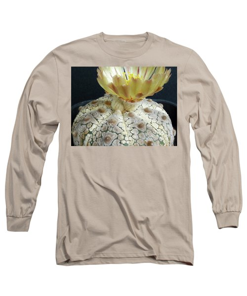 Cactus Flower 1 Long Sleeve T-Shirt by Selena Boron