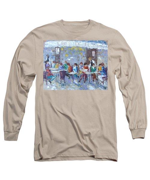 Cafe De Flore Paris Long Sleeve T-Shirt