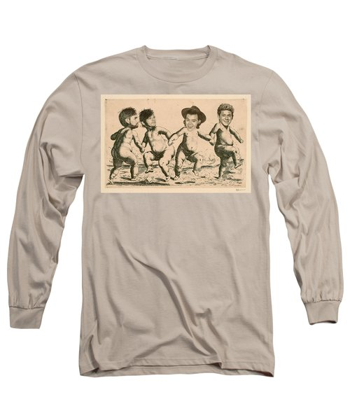 Celebrity Etchings - One Direction   Long Sleeve T-Shirt