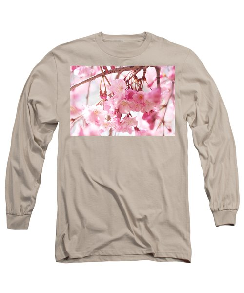 Cherry Blossoms Long Sleeve T-Shirt by Trina Ansel