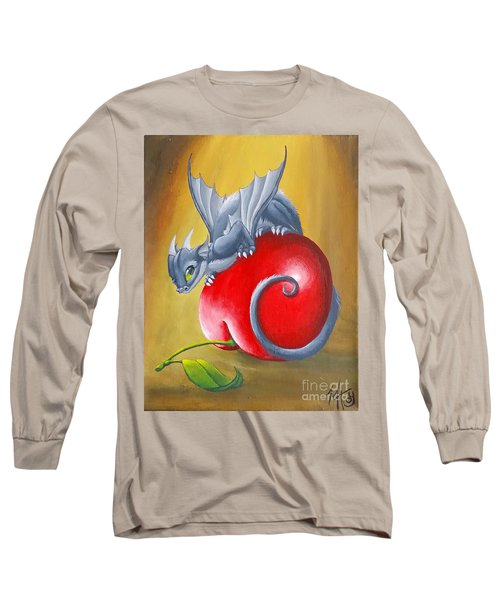 Long Sleeve T-Shirt featuring the painting Cherry Dragon by Mary Hoy