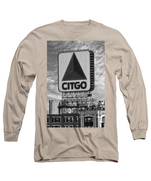 Long Sleeve T-Shirt featuring the photograph Citgo Sign Kenmore Square Boston by Susan Candelario