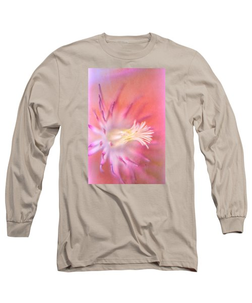 Clematis Long Sleeve T-Shirt by Bonnie Bruno