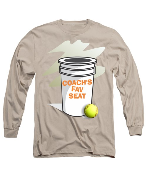 Coach's Favorite Seat Long Sleeve T-Shirt by Jerry Watkins