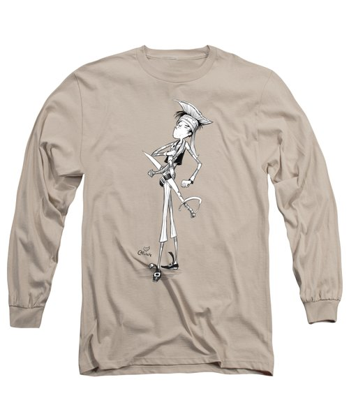 Cocky Pirate Long Sleeve T-Shirt by Andy Catling