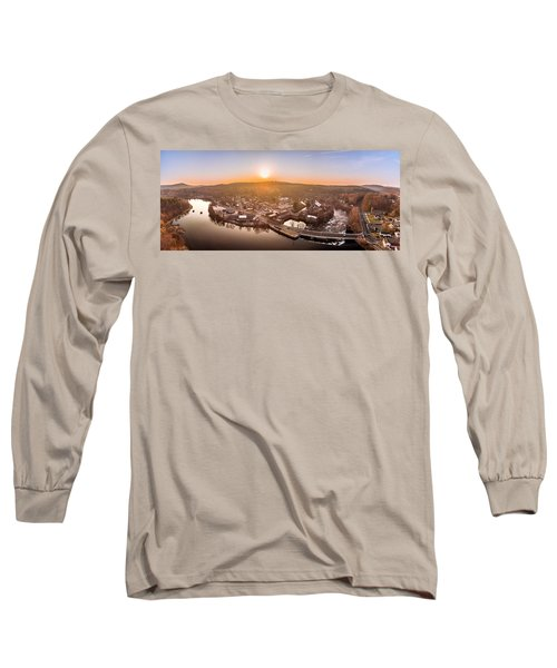 Colinsville, Connecticut Sunrise Panorama Long Sleeve T-Shirt
