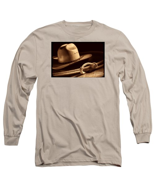 Cowboy Hat And Lasso Long Sleeve T-Shirt