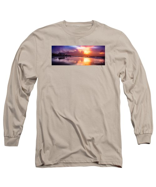 Crescent Beach September Morning Long Sleeve T-Shirt by David Smith
