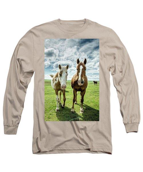 Curious Friends Long Sleeve T-Shirt by Kristal Kraft