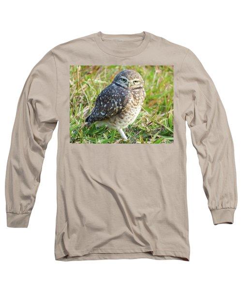 Cute Burrowing Owl Long Sleeve T-Shirt