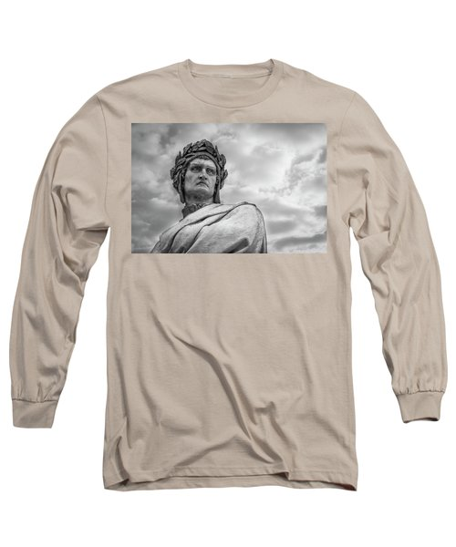 Long Sleeve T-Shirt featuring the photograph Dante Alighieri by Sonny Marcyan