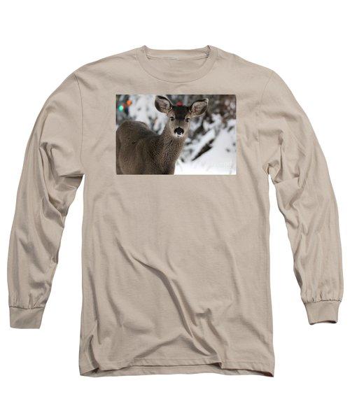 Long Sleeve T-Shirt featuring the photograph Deer by Irina Hays