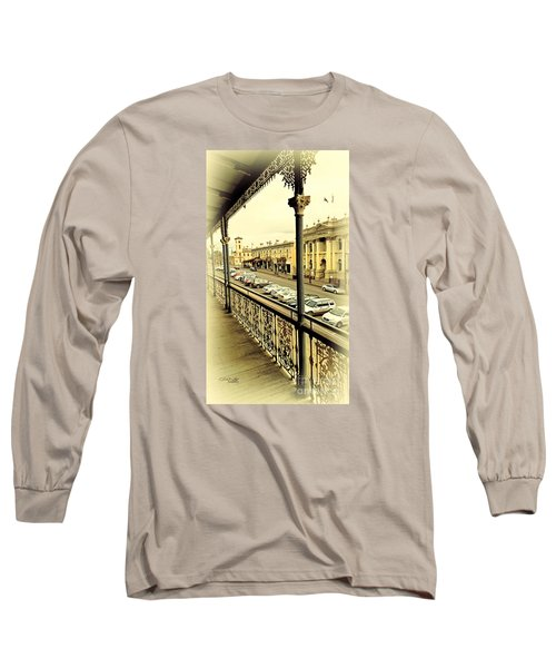 Long Sleeve T-Shirt featuring the photograph Downtown Daylesford II by Chris Armytage