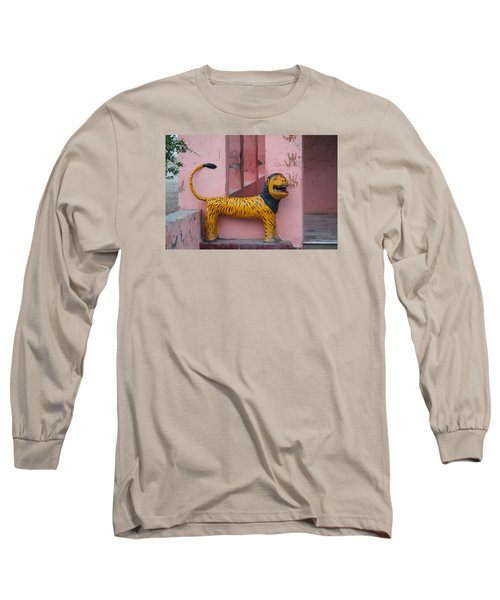 Durga's Lion, Vrindavan Long Sleeve T-Shirt by Jennifer Mazzucco