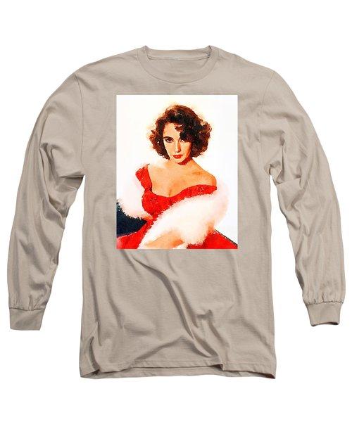 Elizabeth Taylor Long Sleeve T-Shirt by John Springfield