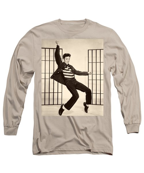 Elvis Presley In Jailhouse Rock 1957 Long Sleeve T-Shirt by Mountain Dreams