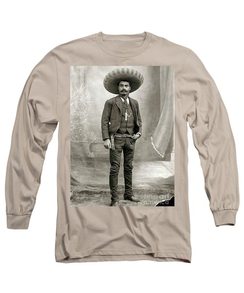 Emiliano Zapata Long Sleeve T-Shirt by Pg Reproductions