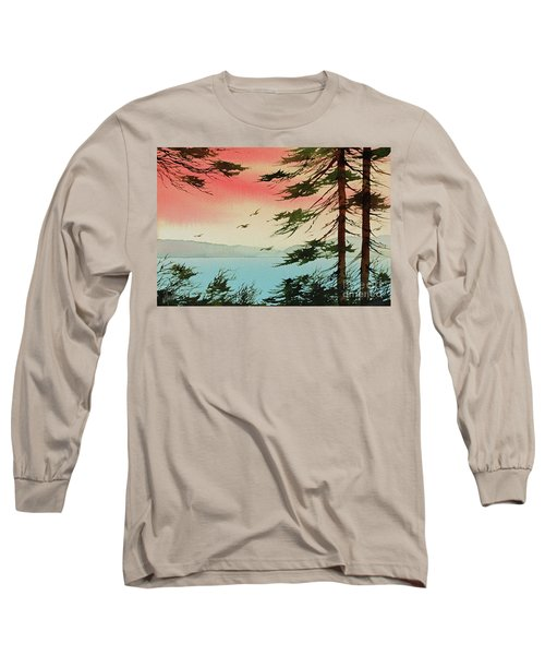Long Sleeve T-Shirt featuring the painting Evening Light by James Williamson