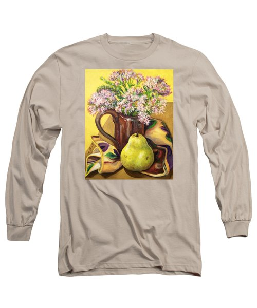 Long Sleeve T-Shirt featuring the painting Fall Still Life by Laura Aceto