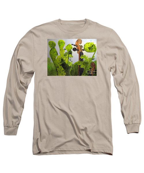 Fiddleheads Long Sleeve T-Shirt by Sandy McIntire