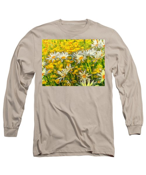 Field Of Daisies Long Sleeve T-Shirt