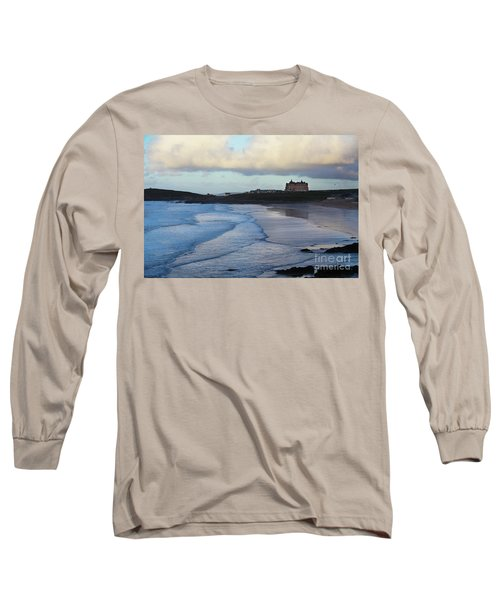 Long Sleeve T-Shirt featuring the photograph Fistral Beach by Nicholas Burningham