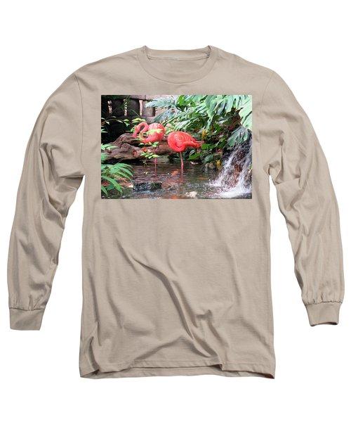 Flamingos Long Sleeve T-Shirt by Betty Buller Whitehead