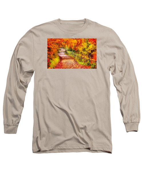 Fall Foliage Path 2 Long Sleeve T-Shirt