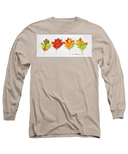 Four Autumn Leaves Long Sleeve T-Shirt