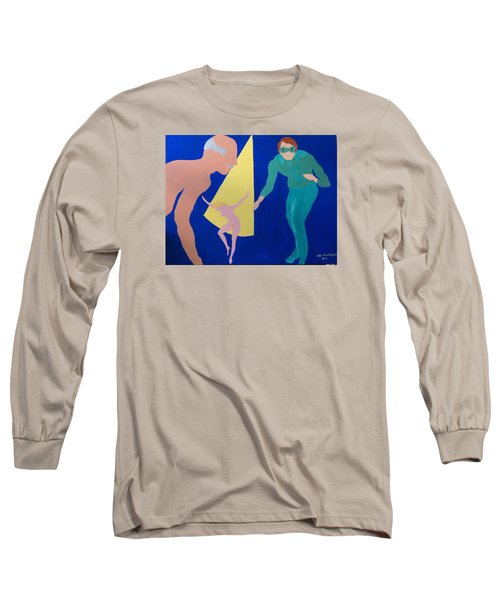 Long Sleeve T-Shirt featuring the painting Counselor by Erika Chamberlin