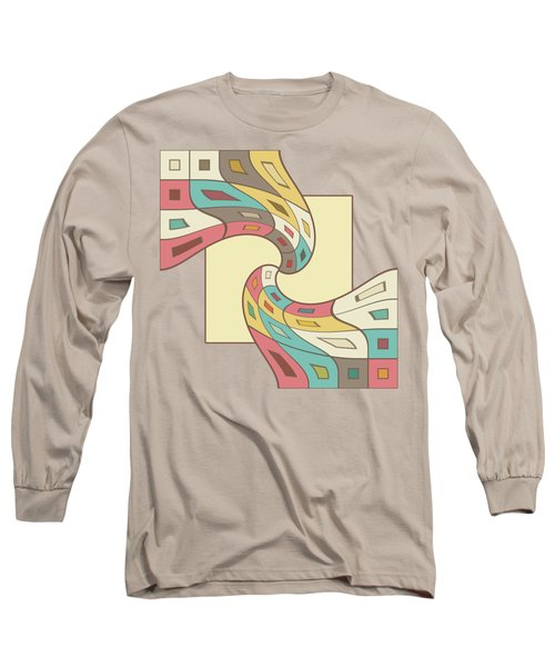 Geometric Abstract Long Sleeve T-Shirt