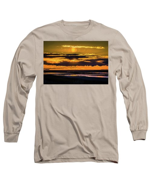 Great Salt Lake Sunset Long Sleeve T-Shirt