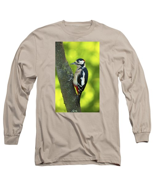 Great Spotted Woodpecker Long Sleeve T-Shirt