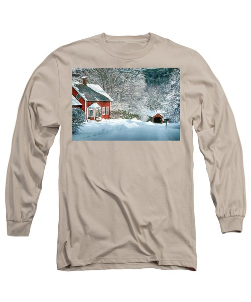 Long Sleeve T-Shirt featuring the photograph Green River Bridge In Snow by Paul Miller