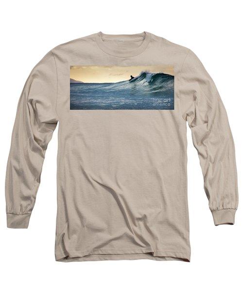 Hawaii Bodysurfing Sunset Polihali Beach Kauai  Long Sleeve T-Shirt