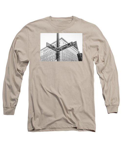 Hollywood And Vine Street Sign Long Sleeve T-Shirt