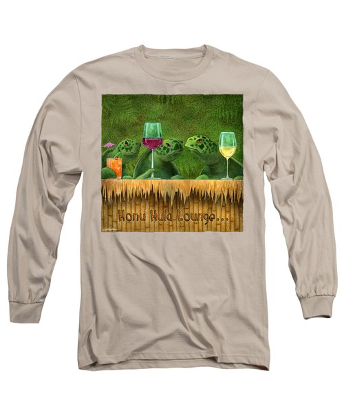 Honu Hula Lounge... Long Sleeve T-Shirt by Will Bullas