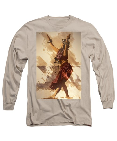 Hula On The Beach Long Sleeve T-Shirt by Himani - Printscapes