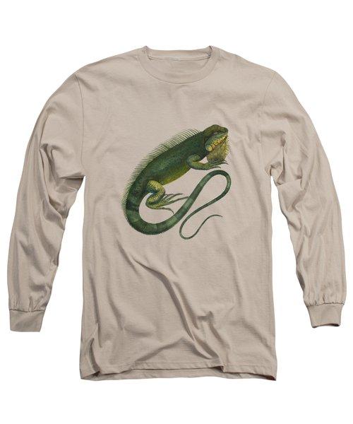 Iguana Long Sleeve T-Shirt by Sergey Lukashin