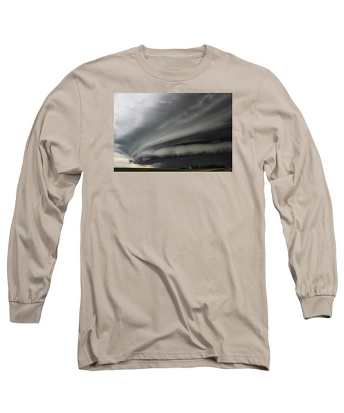 Long Sleeve T-Shirt featuring the photograph Intense Shelf Cloud by Ryan Crouse